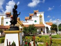 迈阿密,佛罗里达, 2017年11月:Wat迈阿密Therava Buddharangsi  免版税库存图片