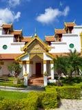 迈阿密,佛罗里达, 2017年11月:Wat迈阿密Therava Buddharangsi  免版税库存照片
