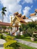 迈阿密,佛罗里达, 2017年11月:Wat迈阿密Therava Buddharangsi  免版税图库摄影