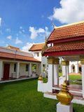 迈阿密,佛罗里达, 2017年11月:Wat迈阿密Therava Buddharangsi  图库摄影