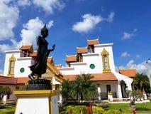 迈阿密,佛罗里达, 2017年11月:Wat迈阿密Therava Buddharangsi  库存照片
