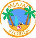 迈阿密,佛罗里达 例证,图形设计 皇族释放例证