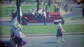 迈阿密,佛罗里达1963年:陆军妇女部被带领的第4 7月游行 股票录像