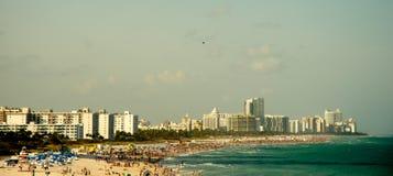 迈阿密,南海滩 免版税库存照片