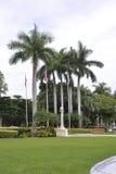 迈阿密,威严第9 :旅馆Biltmore &乡村俱乐部从迈阿密科勒尔盖布尔斯的入口胡同在佛罗里达美国 免版税库存照片