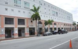 迈阿密,威严第9 :从迈阿密的一点哈瓦那公共街道视图在佛罗里达美国 图库摄影