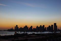从迈阿密,弗洛尔港的迈阿密街市剪影  库存图片