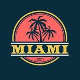 迈阿密2017标签 库存例证