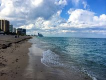 迈阿密Bal Harbour海景 免版税库存照片