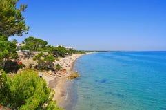 迈阿密Playa在Mont罗伊格使,西班牙靠岸 免版税图库摄影
