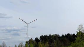 运作在实时的风力厂 股票录像