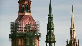 运作在13世纪高耸恢复的重建者 股票录像
