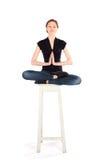 运作女子瑜伽 库存照片