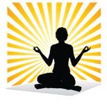运作瑜伽 免版税图库摄影