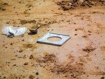 运作的土壤测试 免版税库存照片