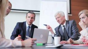 运作的过程在业务会议上 影视素材