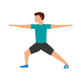 运动员人具体化健身 皇族释放例证