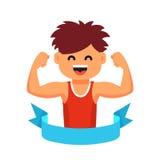 运动员儿童健康生活方式概念 免版税库存图片