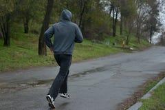 运动员在duathlon竞争中参与 免版税图库摄影