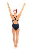 运动员女性游泳者 免版税图库摄影