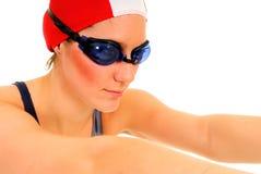 运动员女性游泳者 免版税库存图片