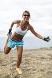 运动员妇女训练 免版税库存照片