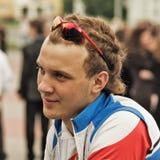 运动员年轻人 库存照片