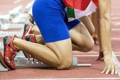 运动员开始 免版税库存图片