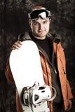 运动员挡雪板 免版税库存图片