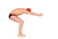 运动员游泳者 免版税库存图片