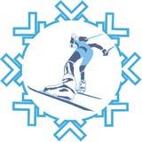 运动员滑雪 免版税图库摄影