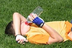 运动员疲倦了 库存图片