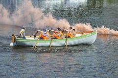 运动员的天在秋明州, 09 08 2014年 水spor节日  库存照片