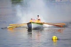 运动员的天在秋明州, 09 08 2014年 水spor节日  免版税库存照片