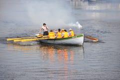 运动员的天在秋明州, 09 08 2014年 水spor节日  库存图片