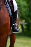 运动员的英尺马镫的 免版税库存图片