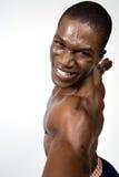运动员肌肉纵向 免版税库存照片