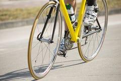运动员自行车男性骑马 库存图片