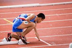 运动员被禁用 免版税库存照片