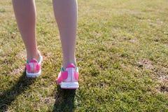 运动员训练的脚 库存图片