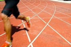 运动员运行中 免版税库存图片