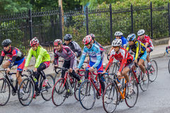 运动员-骑自行车者 库存照片