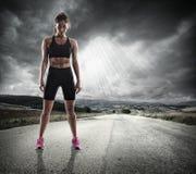 运动妇女赛跑者 免版税库存照片