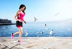 运动妇女赛跑者 图库摄影