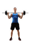 运动服的人行使与重量的 库存图片