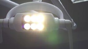 运动的发光的医疗没有影子的灯 股票视频