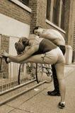 运动的夫妇 库存图片