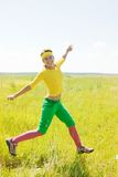 运动的女孩 库存图片