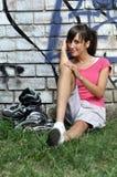 运动的妇女年轻人 免版税库存图片