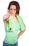 运动的少妇 免版税库存照片